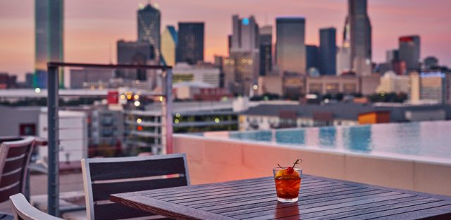 CANVAS Lifestyle Hotel Dallas Rooftop pool Drinks