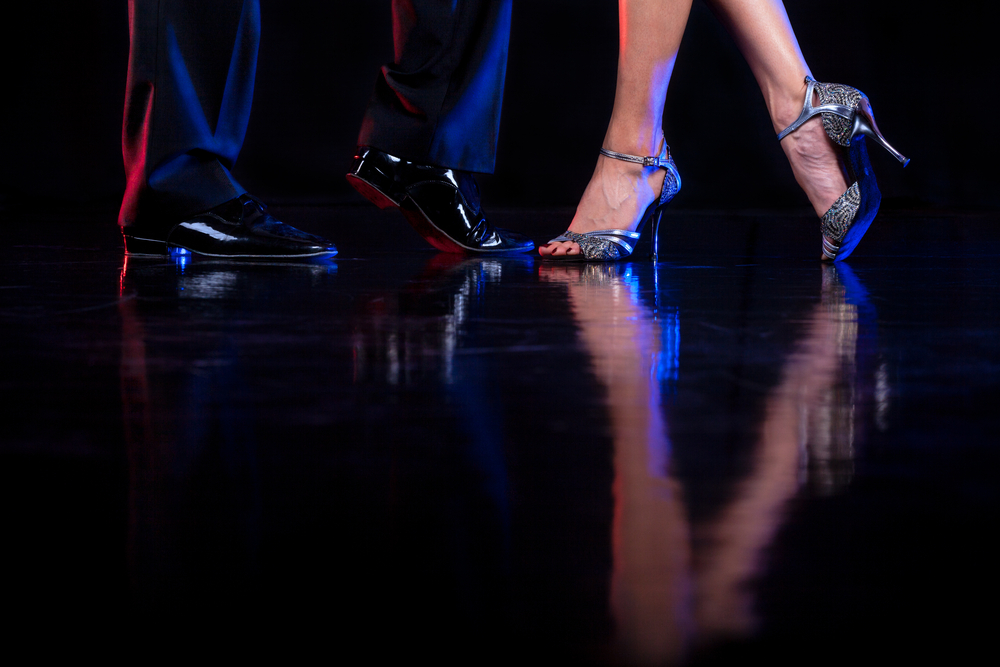 Male and female dancing feet