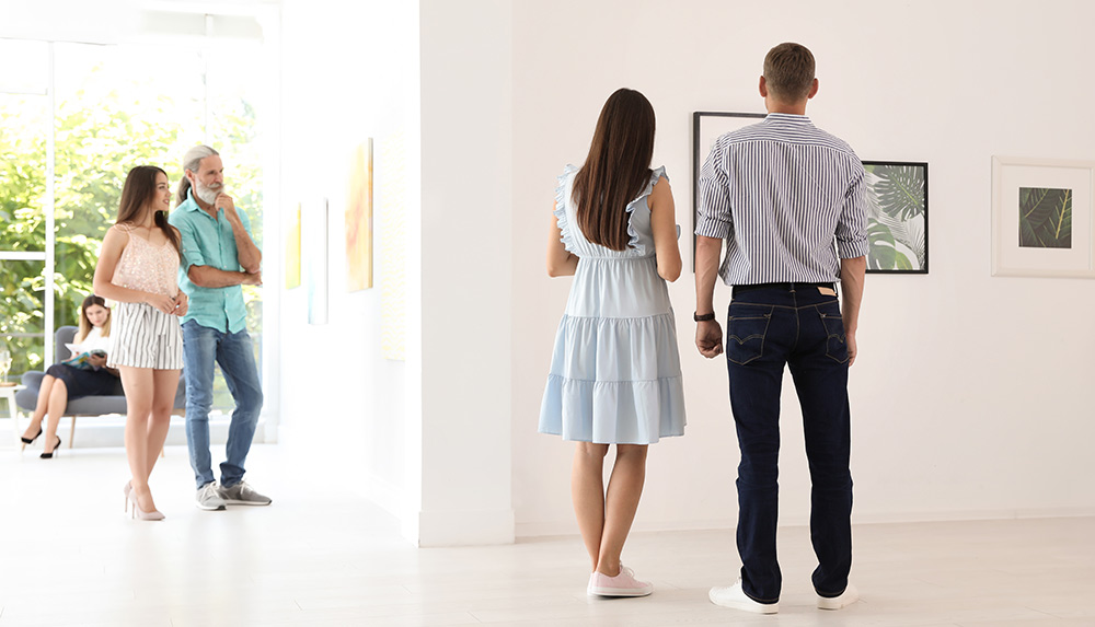Couples at an Art Museum