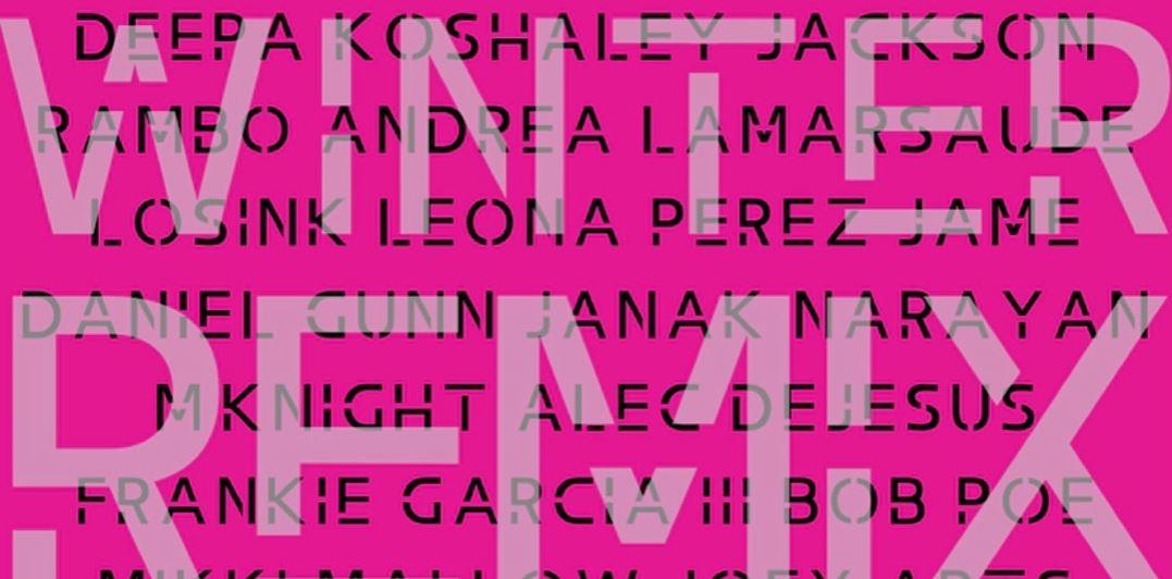 Winter Remix Art Show Event Flyer Image