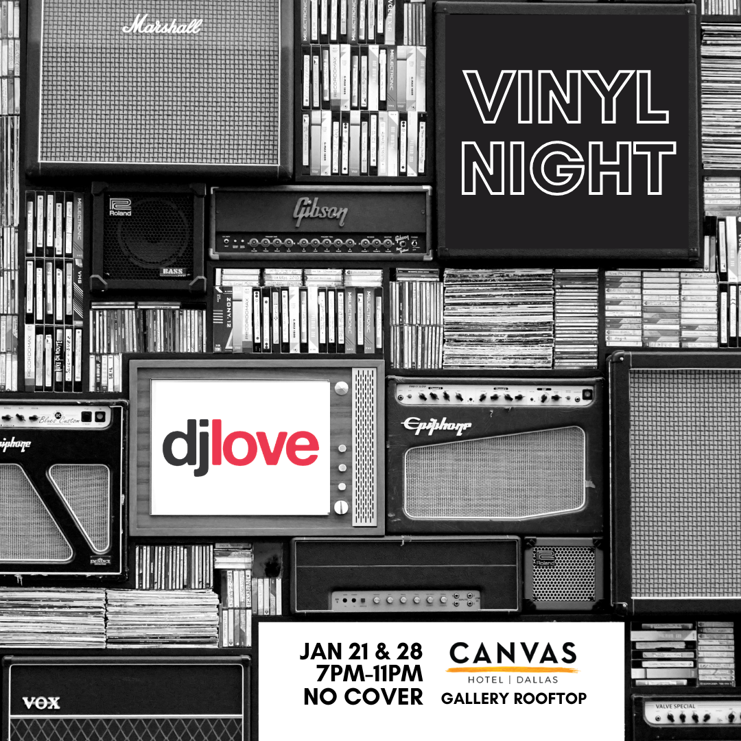 Vinyl night event flyer - Jan 21 & 28
