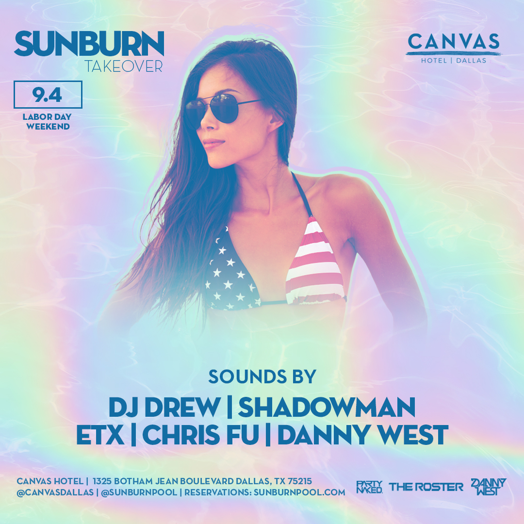 Sunburn Pool Party Event Flyer